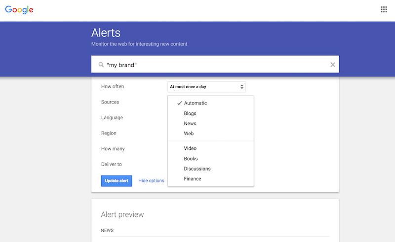 schermata google alert